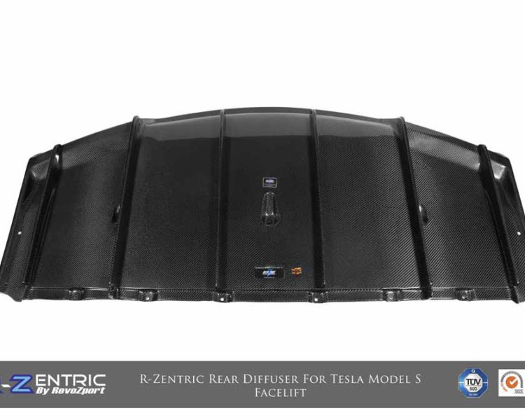 Tesla Model S (facelift) R-Zentric Rear Diffuser (CF